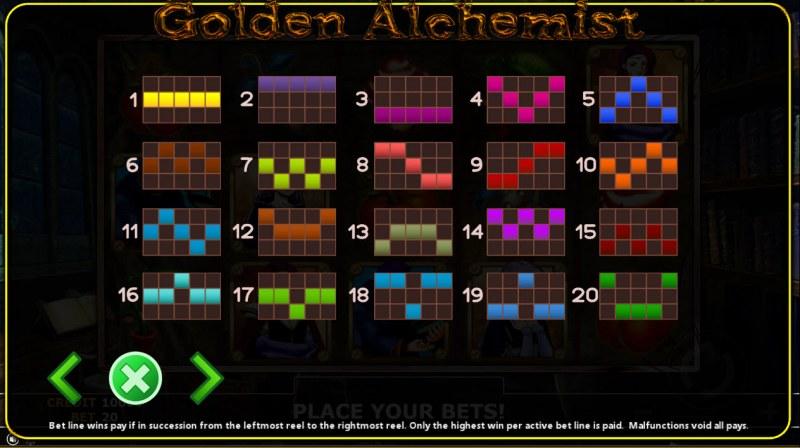 Golden Alchemist :: Paylines 1-20