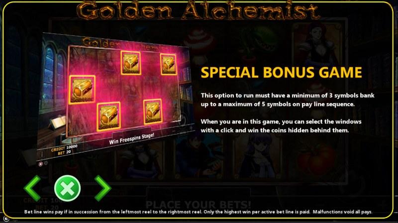 Golden Alchemist :: Bonus Game Rules
