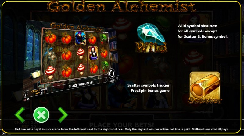 Golden Alchemist :: Wild and Scatter Rules