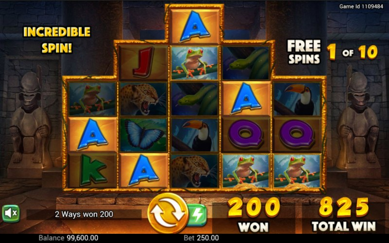 Golden Amazon :: Free Spins Game Board