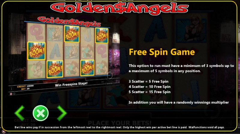 Golden Angels :: Free Spins Rules