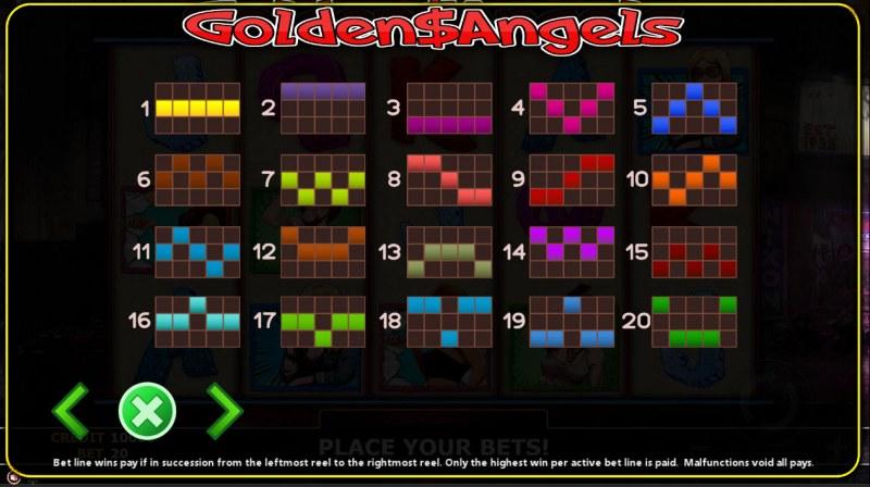 Golden Angels :: Paylines 1-20