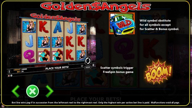 Golden Angels :: Wild and Scatter Rules