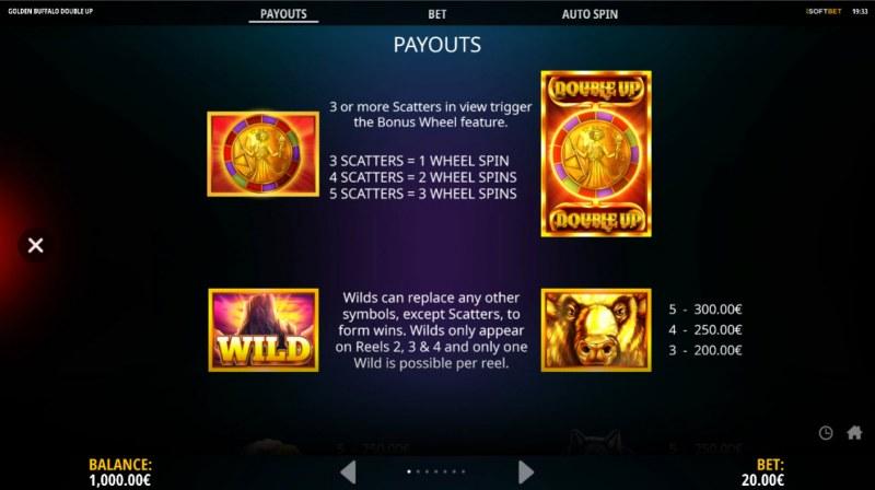 Golden Buffalo Double Up :: Wild Symbol Rules