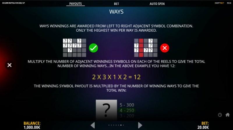 Golden Buffalo Double Up :: 1024 Ways to Win