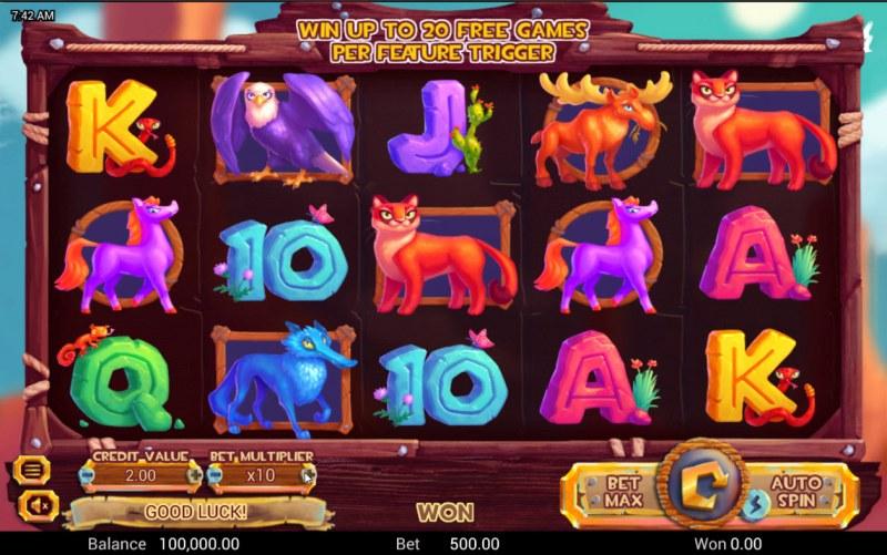 Golden Buffalo :: Base Game Screen