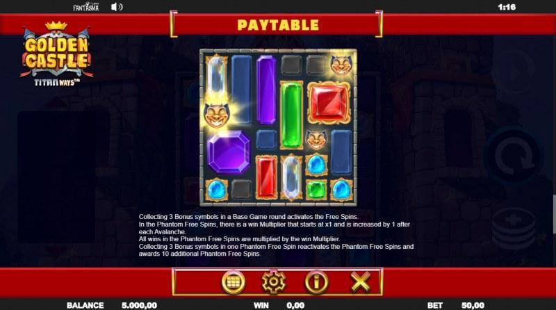 Golden Castle Titanways :: Scatter Symbol Rules