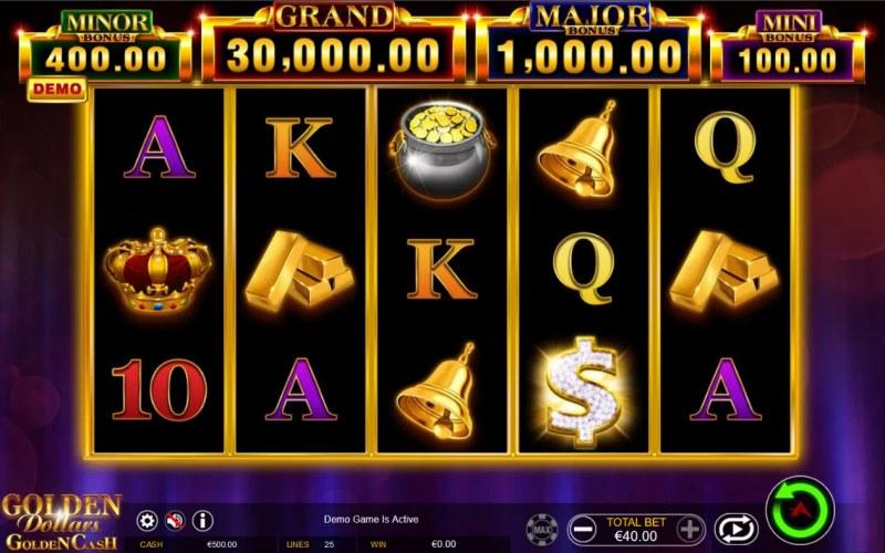 Golden Dollars Golden Cash :: Main Game Board
