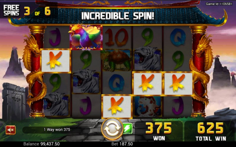 Golden Dragon :: Free Spins Game Board