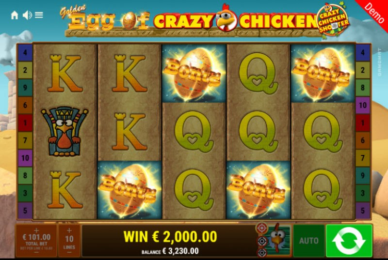 Golden Egg of Crazy Chicken Crazy Chicken Shooter :: Scatter symbols triggers the free spins feature