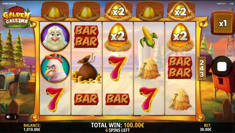 Golden Gallina :: X2 win multiplier awarded