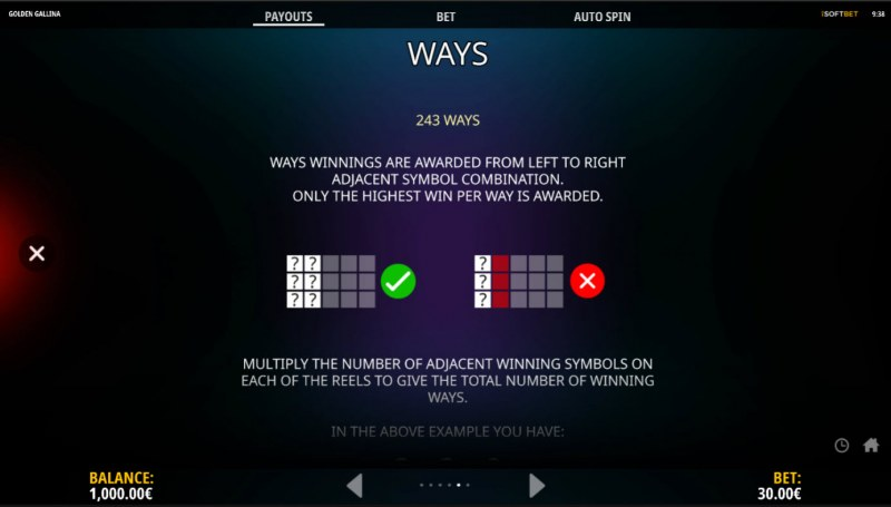 Golden Gallina :: 243 Ways to Win