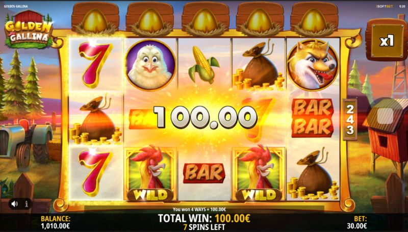 Golden Gallina :: Free Spins Game Board