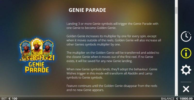 Golden Genie & the Walking Wild :: Genie Parade