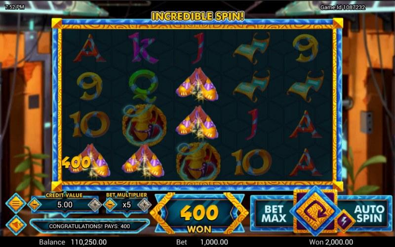 Golden Genie :: A three of a kind win