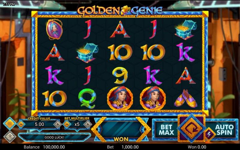 Golden Genie :: Main Game Board