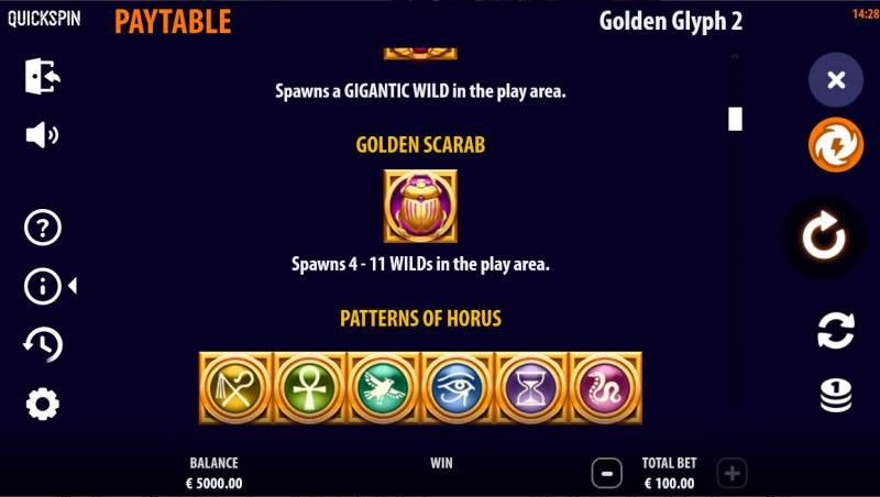 Golden Glyph 2 :: Feature Rules