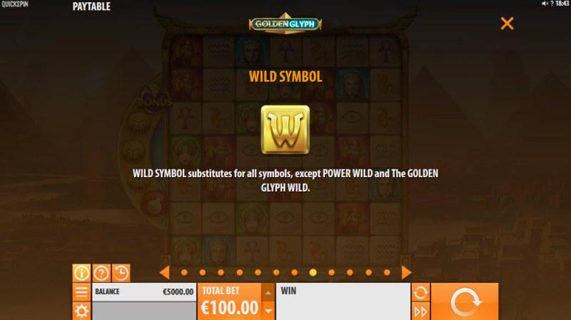 Golden Glyph :: Wild Symbols Rules