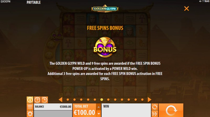 Golden Glyph :: Free Spins Rules