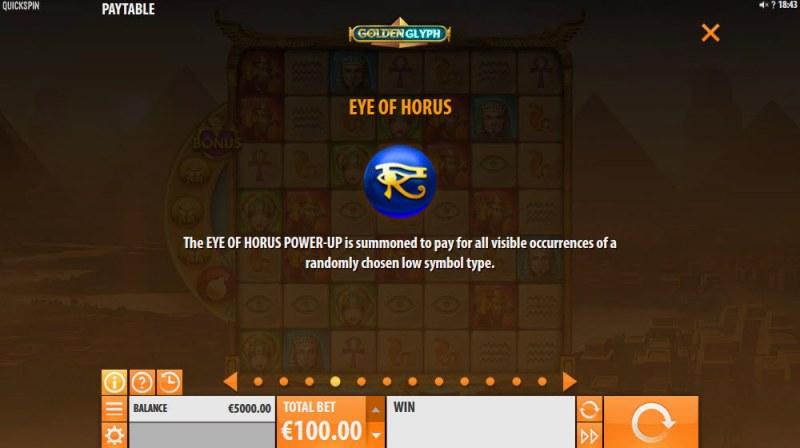 Golden Glyph :: Eye of Horus