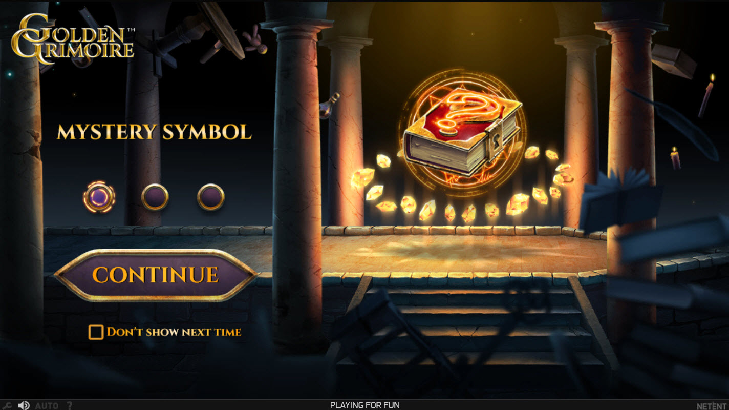 Play slots at Ego Casino: Ego Casino featuring the Video Slots Golden Grimoire with a maximum payout of $320,000