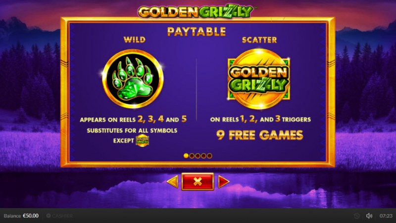 Golden Grizzly :: Wild and Scatter Rules