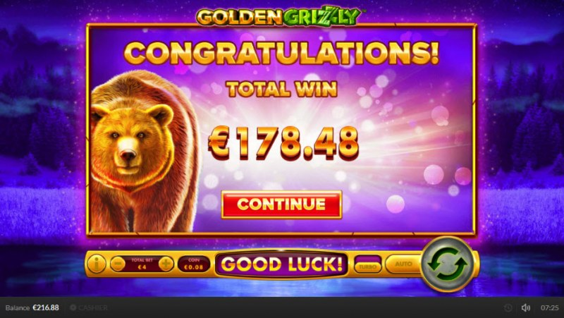 Golden Grizzly :: Big Win