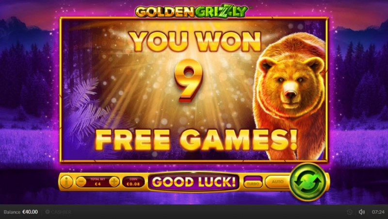 Golden Grizzly :: 9 Free Spins Awarded