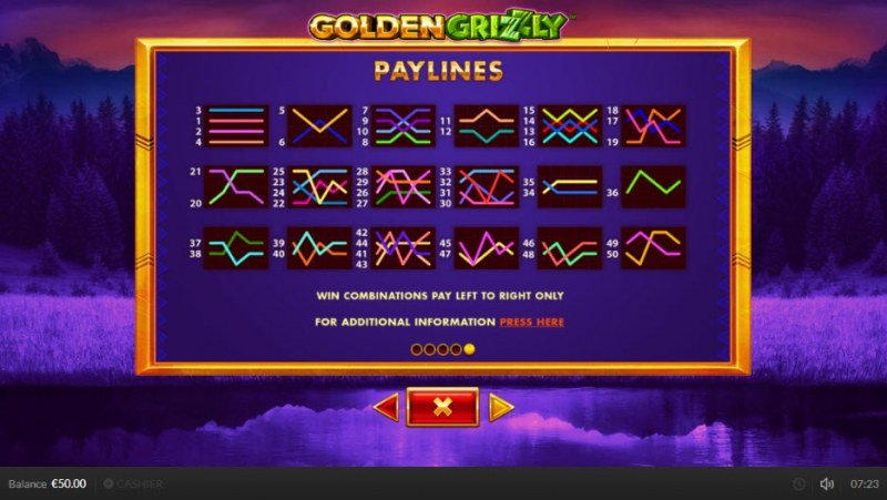 Golden Grizzly :: Paylines 1-50