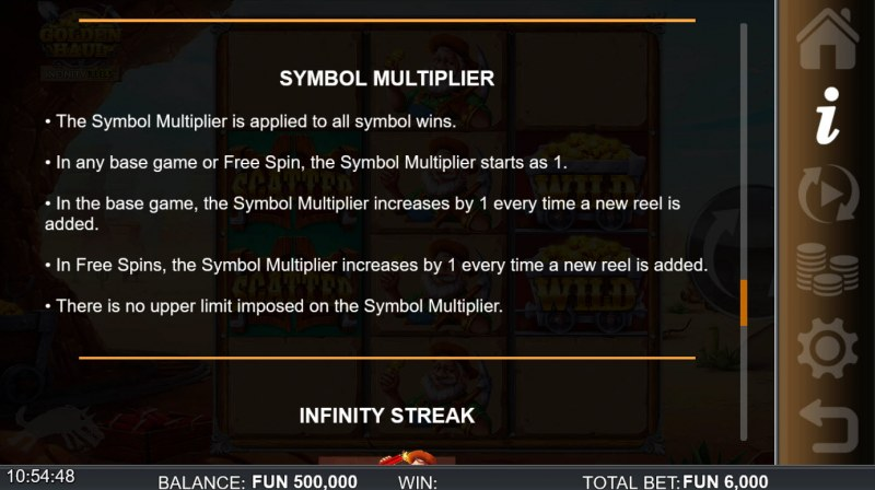 Golden Haul Infinity Reels :: Symbol Multipliers