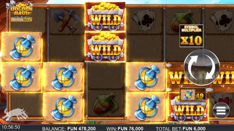 Golden Haul Infinity Reels :: Multiple winning combinations lead to a big win