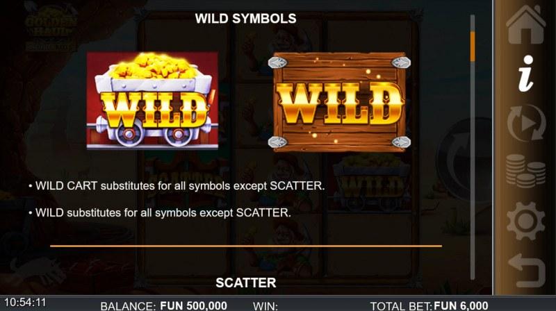 Golden Haul Infinity Reels :: Wild Symbol Rules