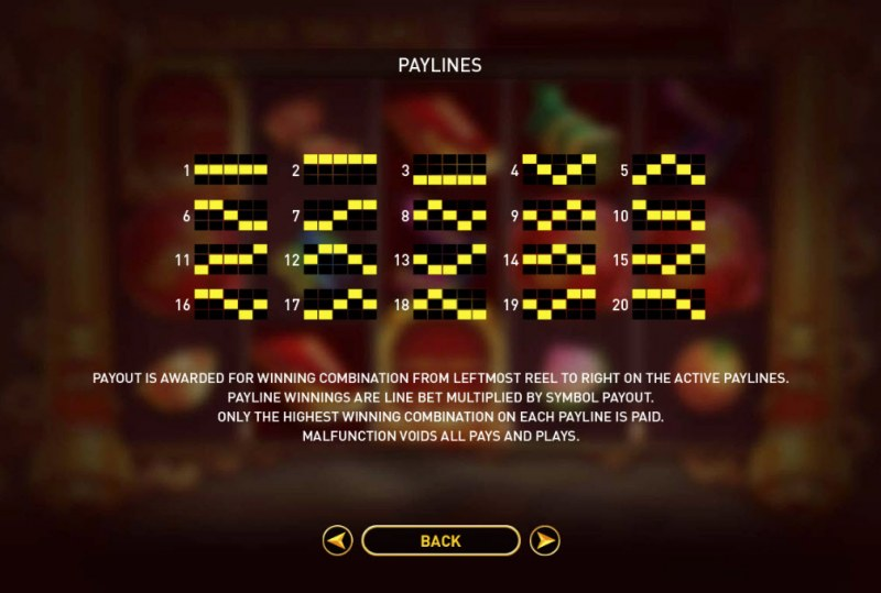 Golden Ink Rat :: Paylines 1-20