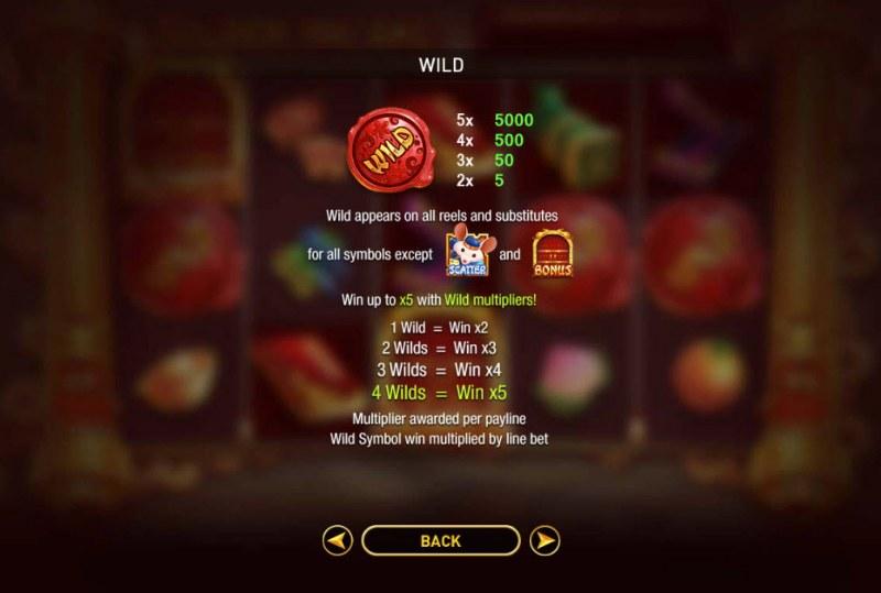 Golden Ink Rat :: Wild Symbols Rules