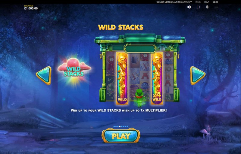 Golden Leprechaun Megaways :: Wild Stacks