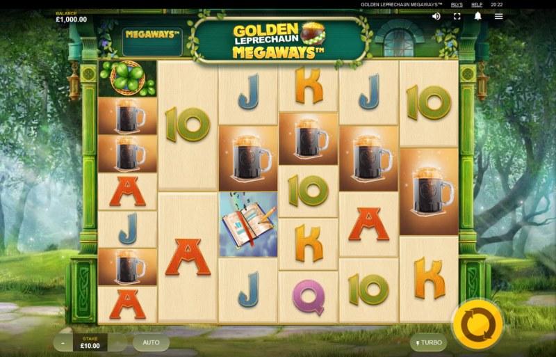 Golden Leprechaun Megaways :: Main Game Board