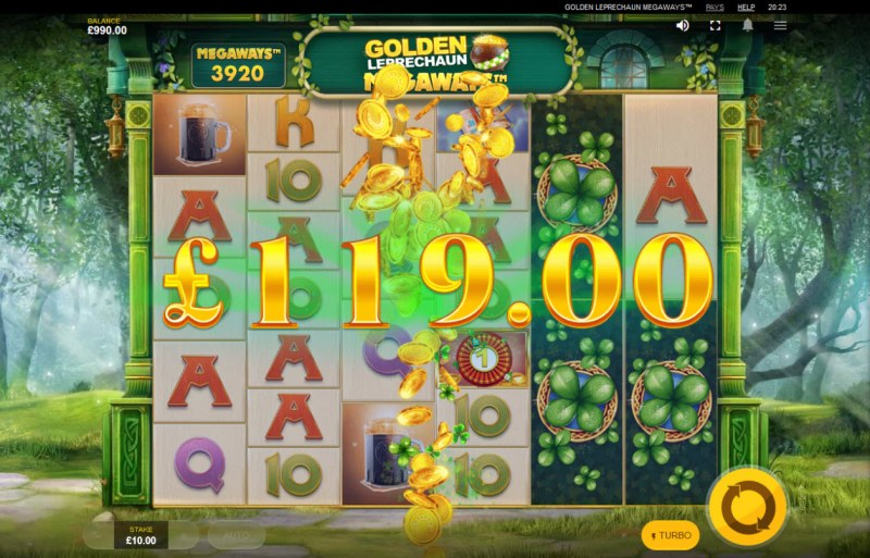 Golden Leprechaun Megaways :: Big Win
