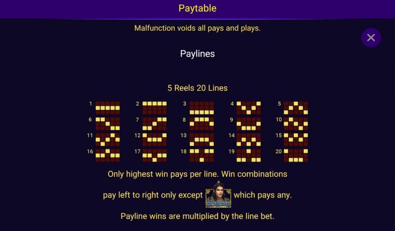 Golden Lotus Special Edition :: Paylines 1-20