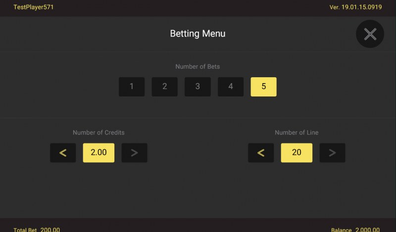 Golden Lotus Special Edition :: Available Betting Options