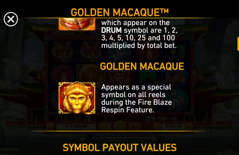 Golden Macaque :: Special Symbol