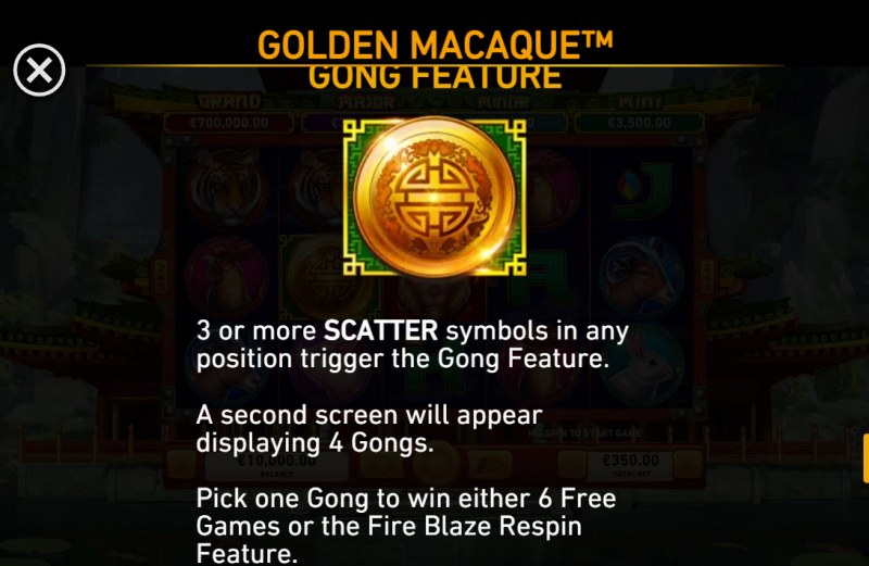 Golden Macaque :: Scatter Symbol Rules
