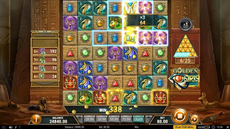 Golden Osiris :: Multiple winning combinations