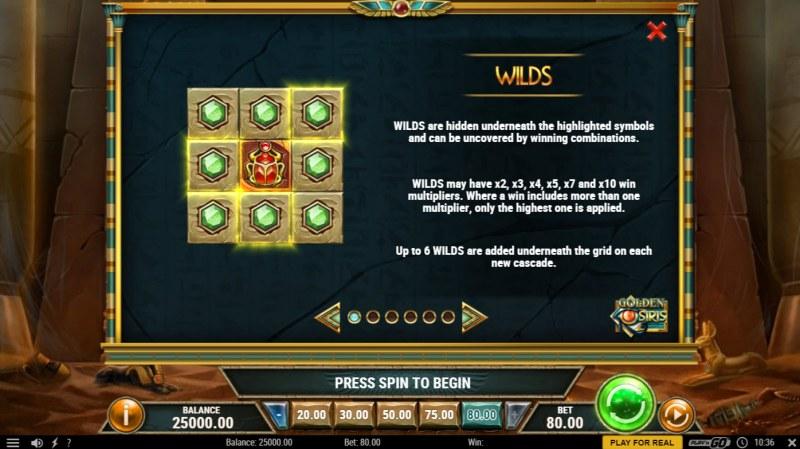 Golden Osiris :: Wild Symbol Rules