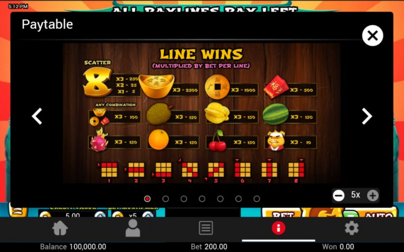 Golden Pig :: Line Wins