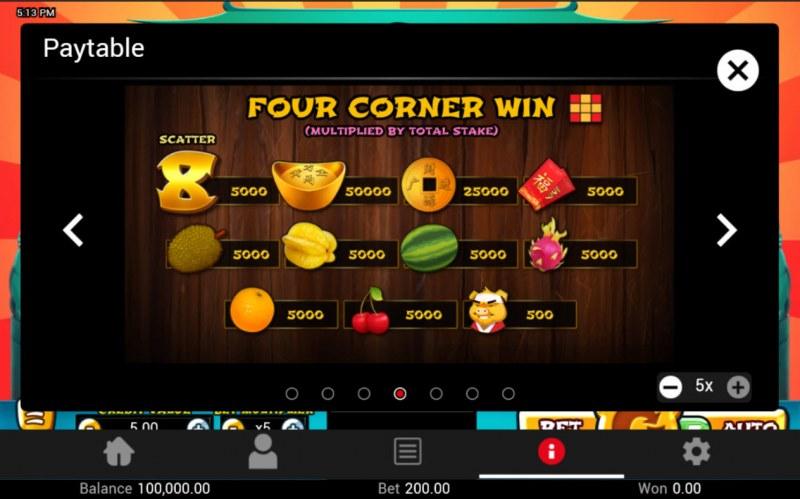 Golden Pig :: Four Corner Win