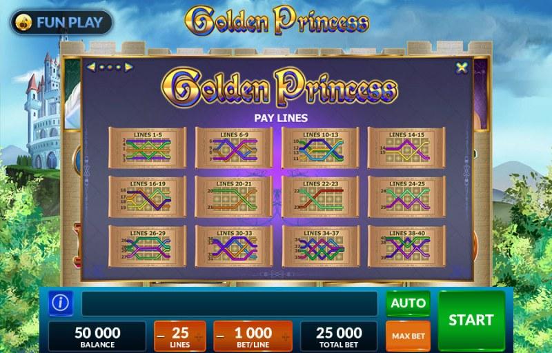 Golden Princess :: Paylines
