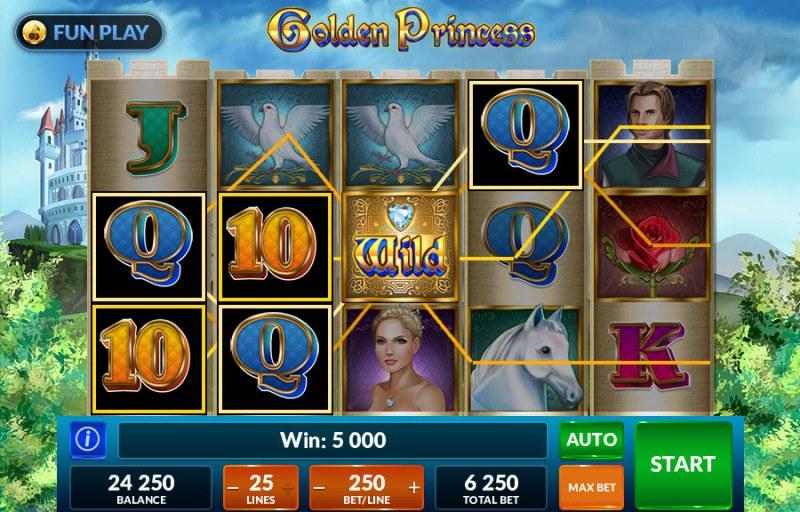 Golden Princess :: Multiple winning paylines