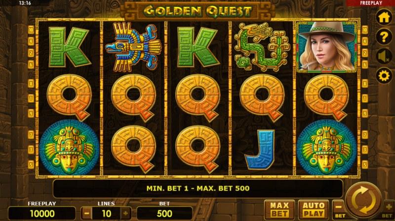 Golden Quest :: Main Game Board
