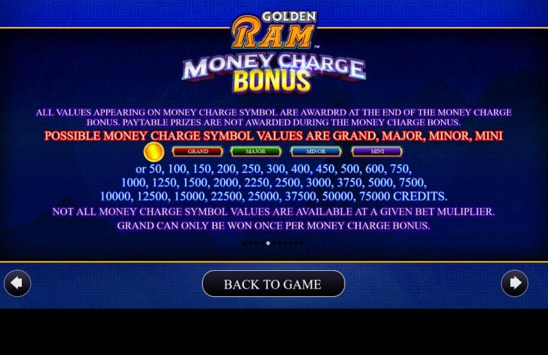 Golden Ram :: Jackpot Rules