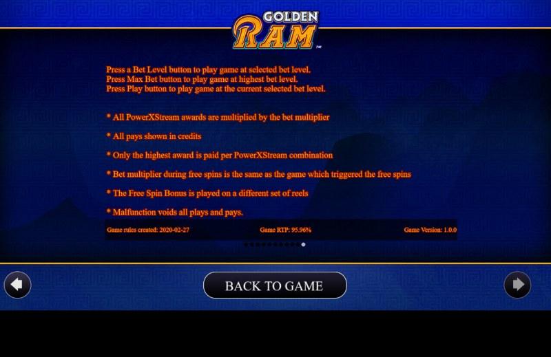 Golden Ram :: General Game Rules